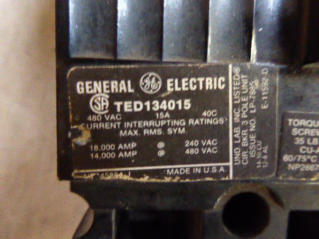 General Electric TED  (breaker)
