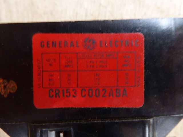 General Electric Contactor CR153
