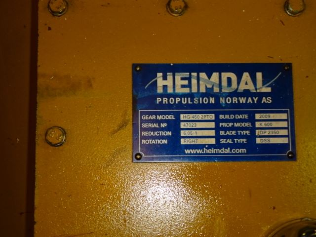 Heimdal HG 460 2PTO CP gearbox