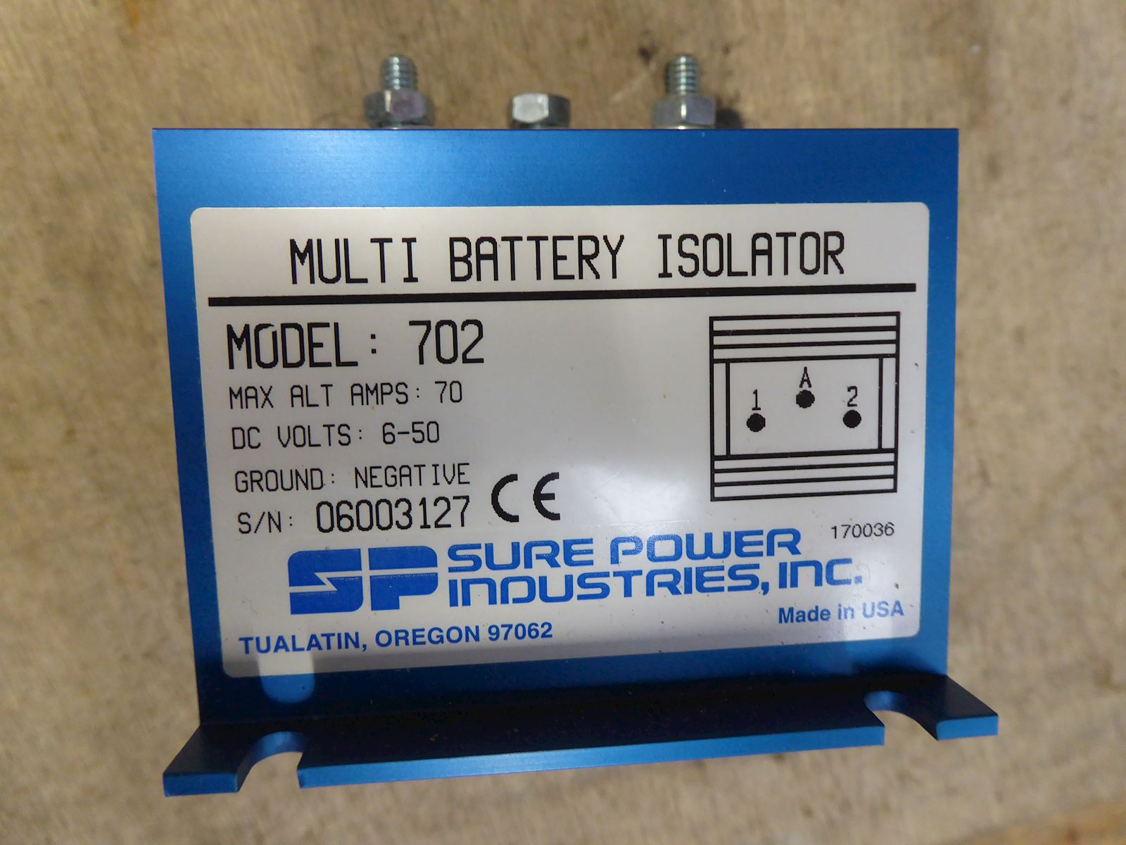 SP Industries Multi Battery Isolator 702