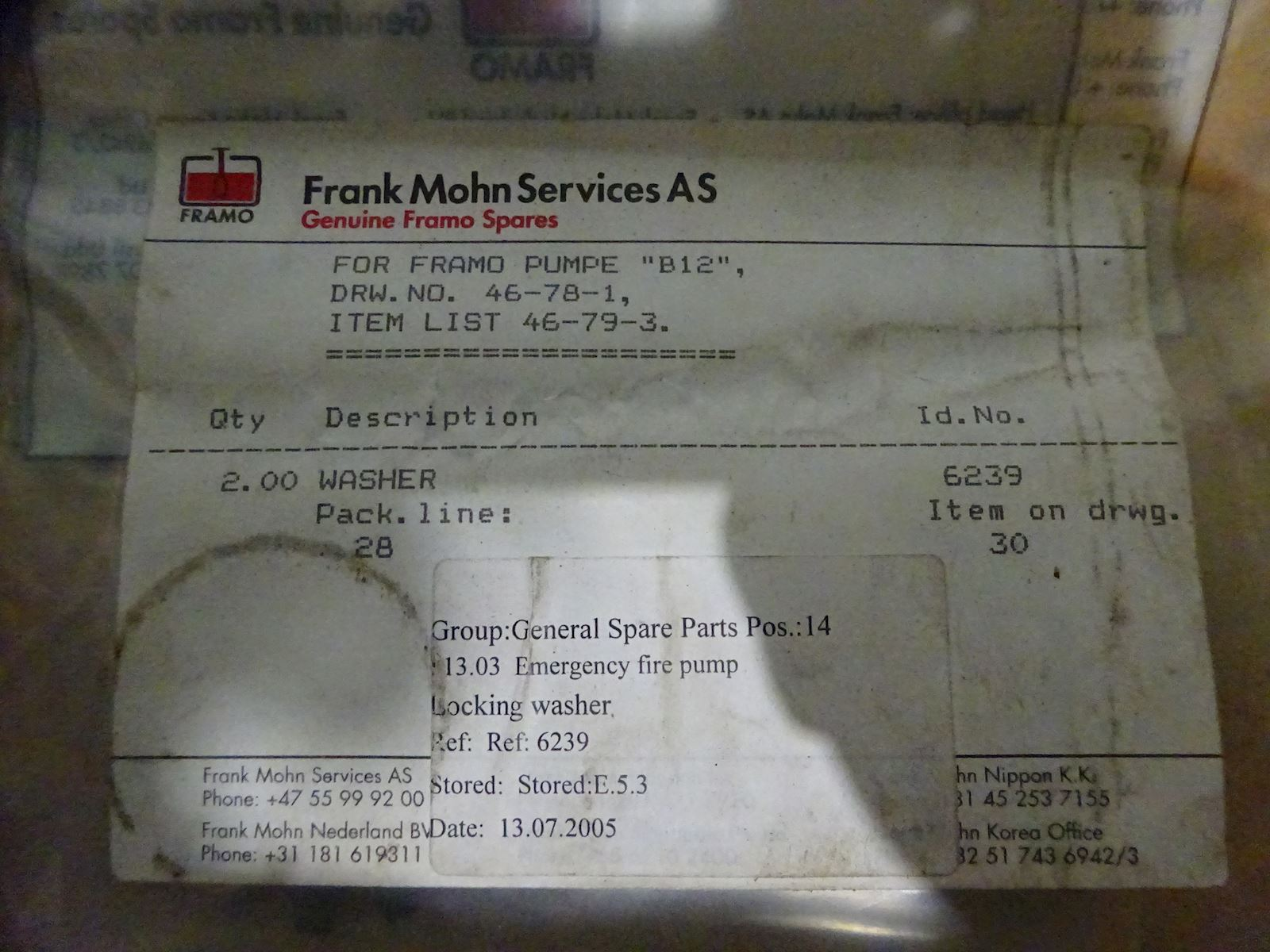 Framo Washer 6239