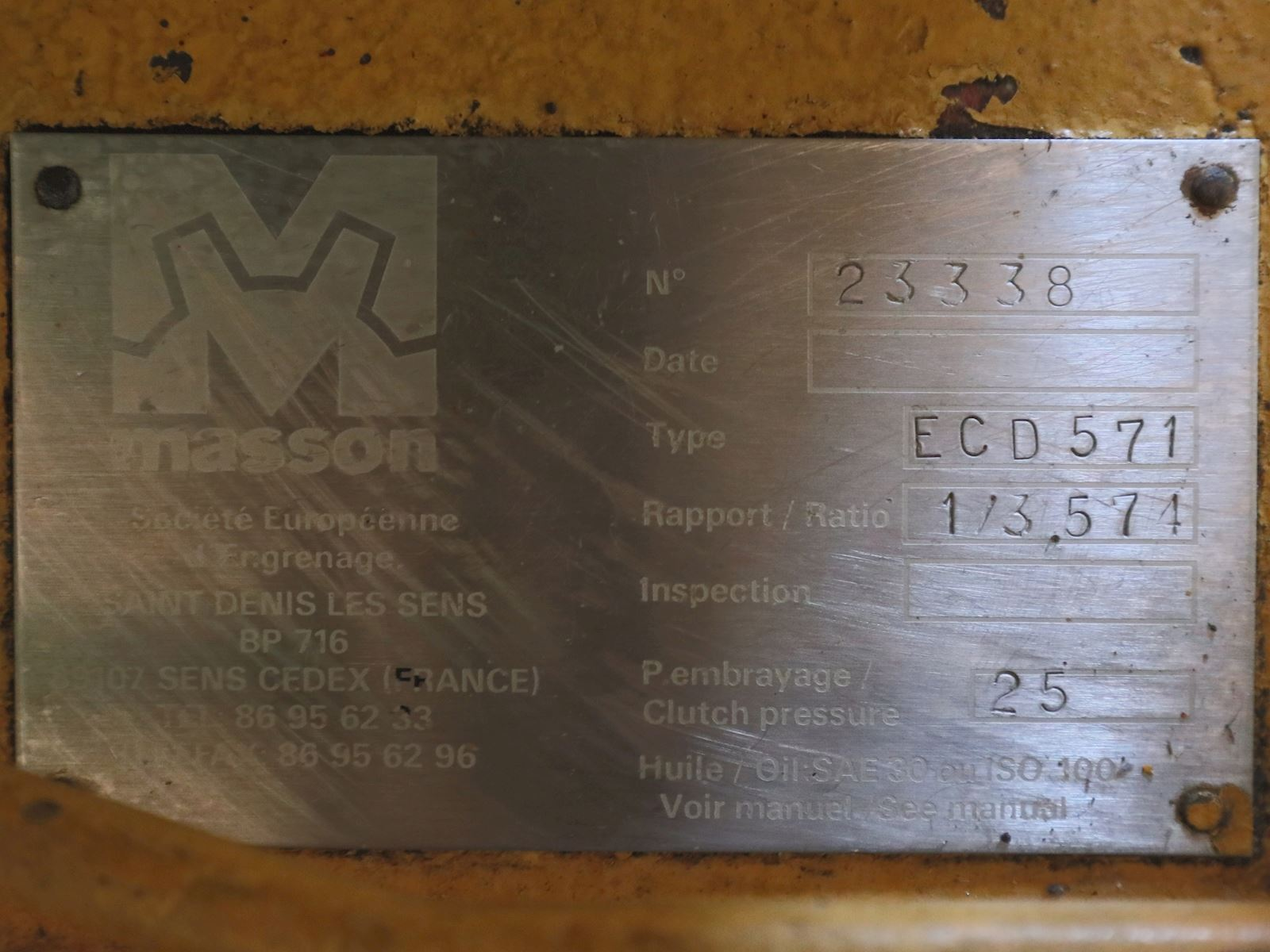 Masson Masson ECD 571, New type designation is MM W5700 NR.